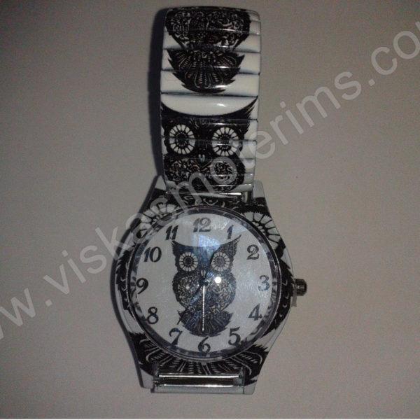 Moteriškas laikrodis Pelėda su spyruokline apyranke - demonstracija