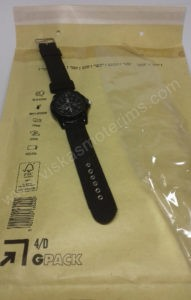 Vyriškas kareiviškas laikrodis Gemius Army - ant siunčiamo voko išskleistas
