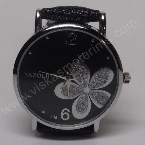 Moteriškas laikrodis Yazole su gėle - ciferblatas