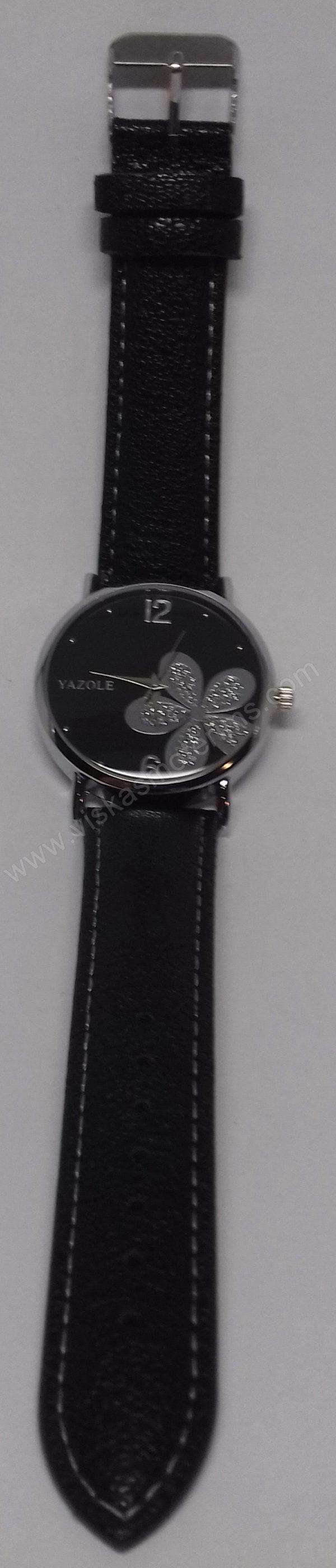 Moteriškas laikrodis Yazole su gėle - visu ilgiu