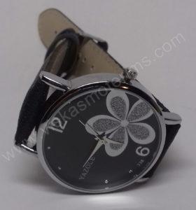 Moteriškas laikrodis Yazole su gėle - susegtas iš priekio