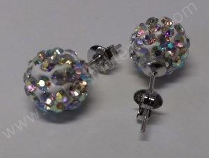 Moteriškas laikrodis-apyrankė su kristalais + grandinėlė ir auskarai - auskariukai