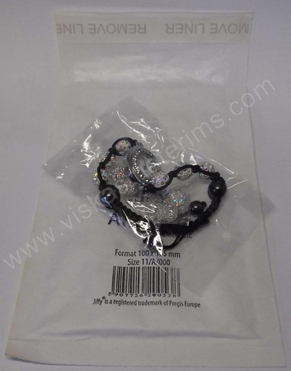 Moteriškas laikrodis-apyrankė su kristalais + grandinėlė ir auskarai - su siunčiamu voku - 2