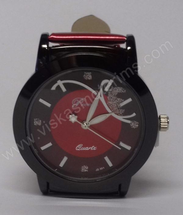 Moteriškas laikrodis raudonas Prema - ciferblatas