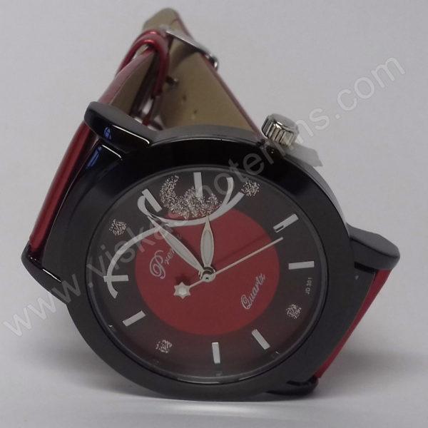 Moteriškas laikrodis raudonas Prema - ciferblatas ant šono