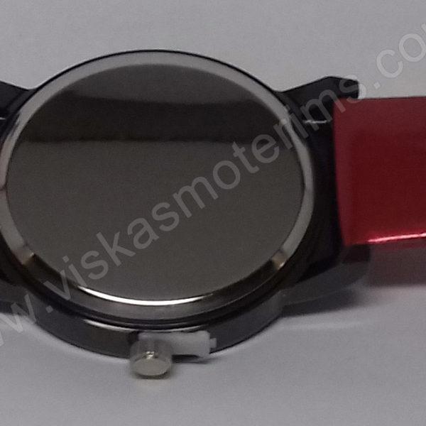 Moteriškas laikrodis raudonas Prema - visu ilgiu nugara