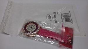 Moteriškas laikrodis su burbuliukais ciferblato viduje rožiniu dirželiu Go Goey - su siunčiamu voku