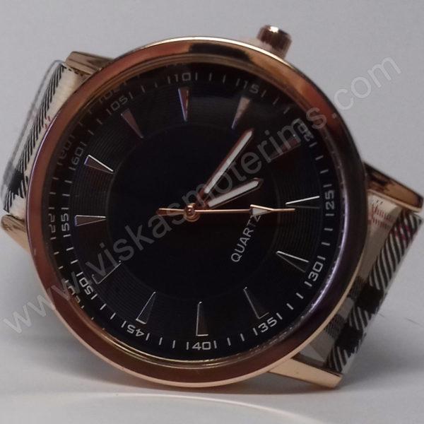 Moteriškas laikrodis su juodu ciferblatu - iš arti 2