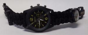 Vyriškas juodas turistinis laikrodis 5 in 1 Geneva - iš priekio