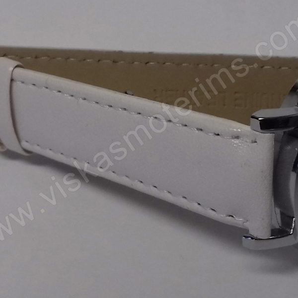 Vyriškas laikrodis baltas su trikampiniu ciferblatu - Milon - iš šono