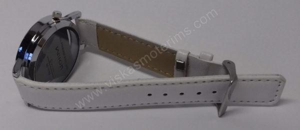 Vyriškas laikrodis baltas su trikampiniu ciferblatu - Milon - iš kito šono