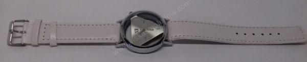 Vyriškas laikrodis baltas su trikampiniu ciferblatu - Milon - visu ilgiu
