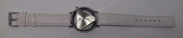 Vyriškas laikrodis baltas su trikampiniu ciferblatu - Milon - visu ilgiu 2