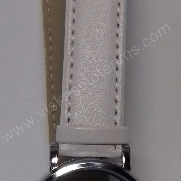 Vyriškas laikrodis baltas su trikampiniu ciferblatu - Milon - ciferblatas ir dirželis su sagčiu