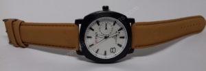 Vyriškas laikrodis Curren baltu ciferblatu ir rudu dirželiu - visu ilgiu