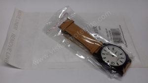 Vyriškas laikrodis Curren baltu ciferblatu ir rudu dirželiu - su siunčiamu voku