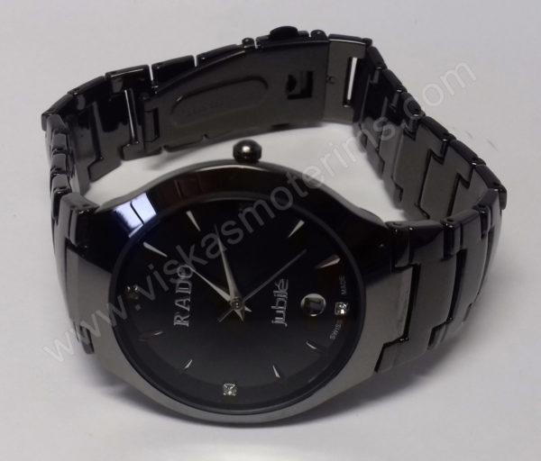 Vyriškas laikrodis Rado su metaline uzsegama apyranke - iš arti su apyranke