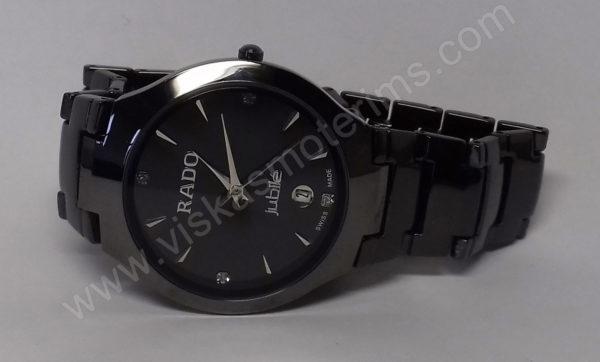 Vyriškas laikrodis Rado su metaline uzsegama apyranke - iš arti ant šono 2