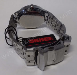 Vyriškas laikrodis Skmei metalinis - iš galo užsegimas