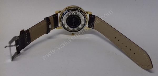Vyriškas laikrodis su permatomu ciferblatu kaip Skeleton - iš galo visu ilgiu