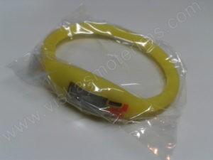 Elektroninis laikrodis silikonine apyranke (geltonos spalvos) - maišiuke