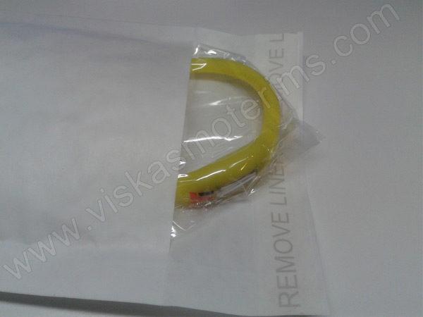 Elektroninis laikrodis silikonine apyranke (geltonos spalvos) - su voku