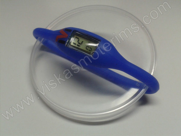Elektroninis laikrodis silikonine apyranke (mėlynos spalvos)