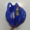 Elektroninis laikrodis silikonine apyranke (mėlynos spalvos) - iš priekio ir galo