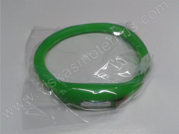 Elektroninis laikrodis silikonine apyranke (žalios spalvos) - maišiuke