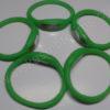 Elektroninis laikrodis silikonine apyranke (žalios spalvos) - iš šono