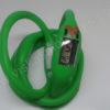 Elektroninis laikrodis silikonine apyranke (žalios spalvos) - iš priekio ir galo