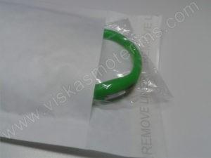 Elektroninis laikrodis silikonine apyranke (žalios spalvos) - su voku