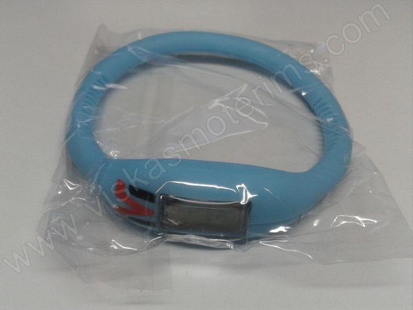 Elektroninis laikrodis silikonine apyranke (žydros spalvos) - maišiuke