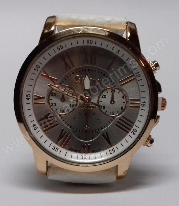 Moteriškas baltas laikrodis Geneva