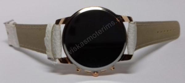 Moteriškas baltas laikrodis Geneva - iš galo