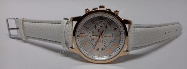 Moteriškas baltas laikrodis Geneva - iš priekio