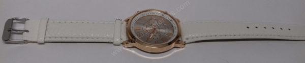 Moteriškas baltas laikrodis Geneva - visu ilgiu