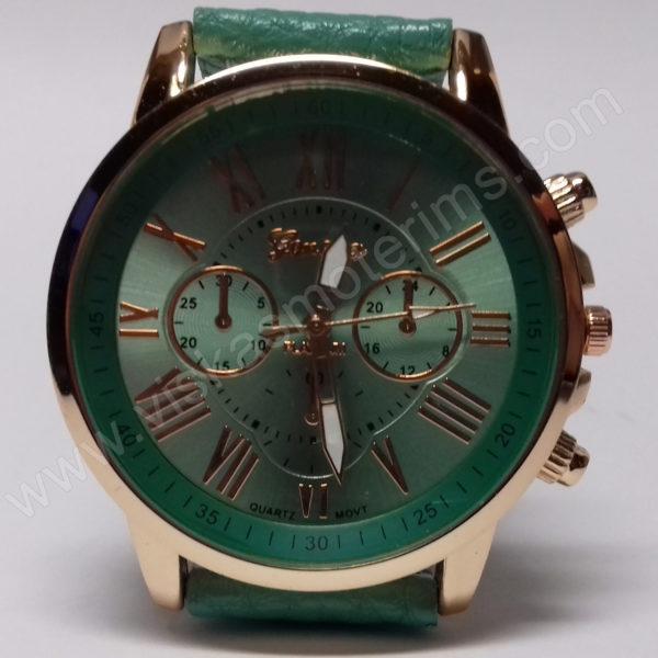 Moteriškas laikrodis mentolo spalvos