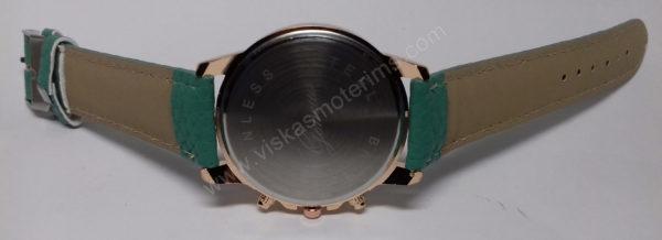Moteriškas laikrodis mentolo spalvos - vidinė pusė