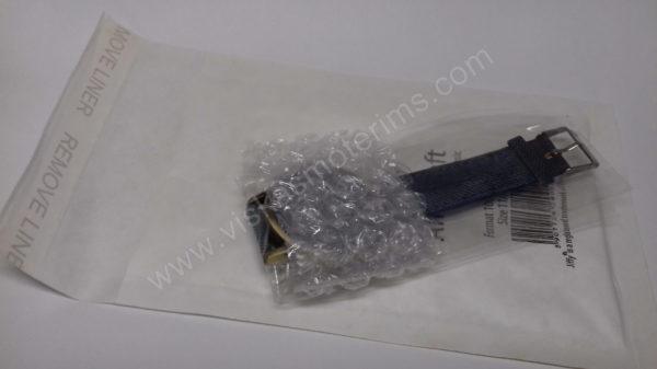 Moteriškas laikrodis mėlynos spalvos džinsine apyranke - su voku