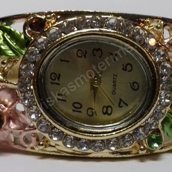 Moteriškas spalvotas laikrodis kieta apyranke