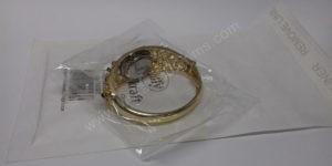 Moteriškas spalvotas laikrodis kieta apyranke - su voku