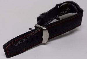 Vyriškas laikrodis sportinis su silikoniniu dirželiu - dirželis ir susegimas