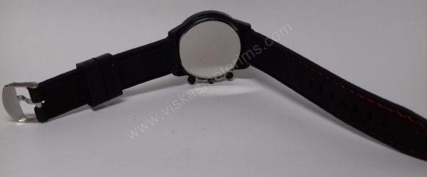 Vyriškas laikrodis sportinis su silikoniniu dirželiu - iš nugaros