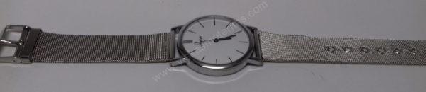 Vyriškas laikrodis su metaliniu dirželiu - visu ilgiu