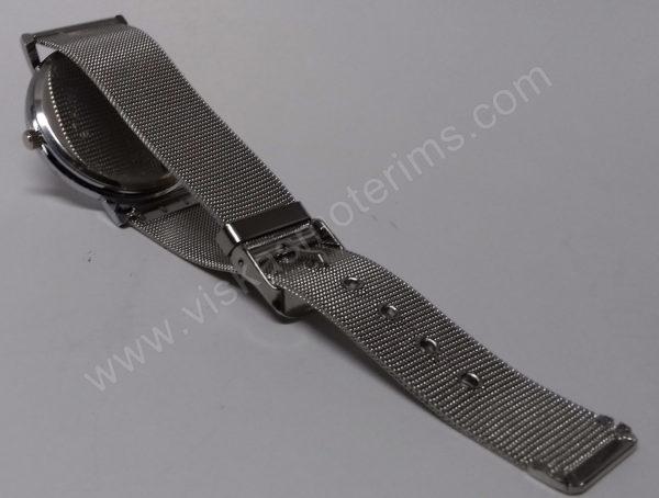 Vyriškas laikrodis su metaliniu dirželiu - dirželis