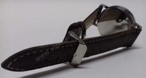 Vyriškas laikrodis Yazole rudu dirželiu bei juodu ciferblatu - dirželis