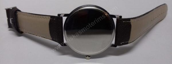 Vyriškas laikrodis Yazole rudu dirželiu bei juodu ciferblatu - iš galo