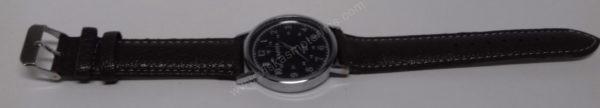 Vyriškas laikrodis Yazole rudu dirželiu bei juodu ciferblatu - visu ilgiu