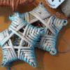 Pintų naujametinių žaisliukų rinkinys - žvaigždės